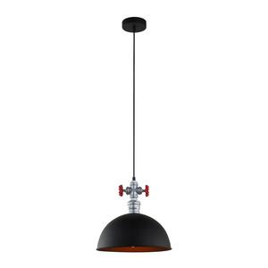 Černá závěsná lampa Rosa E27 small 1