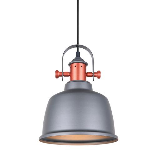 Šedá závěsná lampa Treppo E27