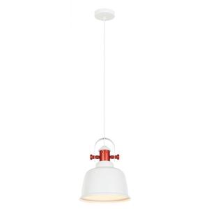 Bílá závěsná lampa Treppo E27 small 1