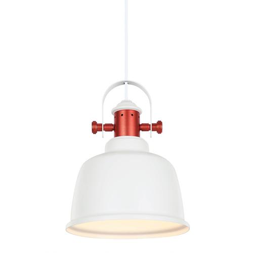 Bílá závěsná lampa Treppo E27