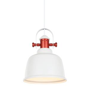 Bílá závěsná lampa Treppo E27 small 0