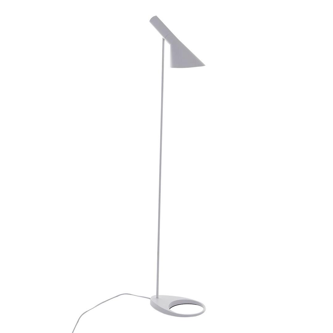 Bílá stojací lampa Volta E27