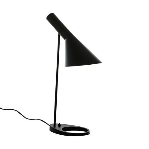 Černá stolní lampa Volta E27