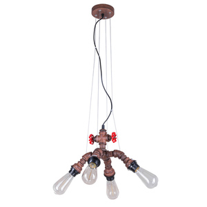 Měděná závěsná lampa Manila E27 4 žárovky small 1