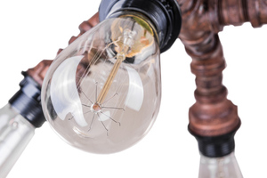 Měděná závěsná lampa Manila E27 4 žárovky small 5