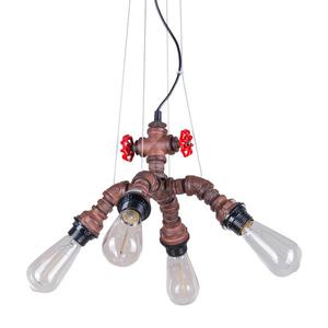 Měděná závěsná lampa Manila E27 4 žárovky small 0