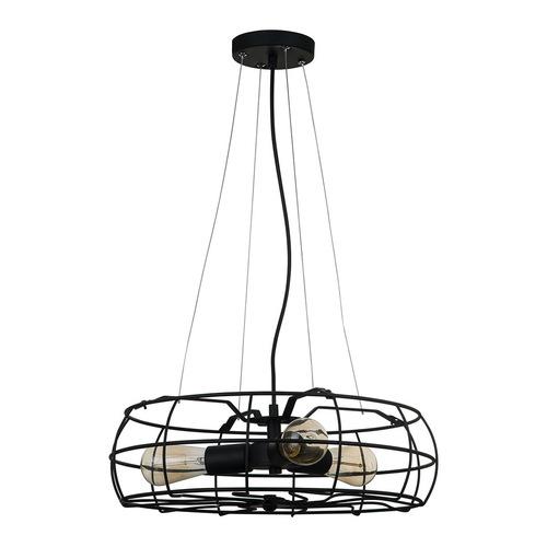 Černá závěsná lampa Rayo E27, 3 žárovky