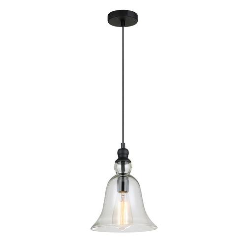 Černá závěsná lampa Irene E27