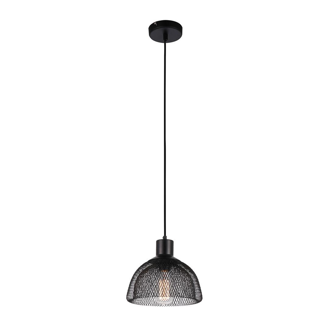 Černá závěsná lampa Julienne E27