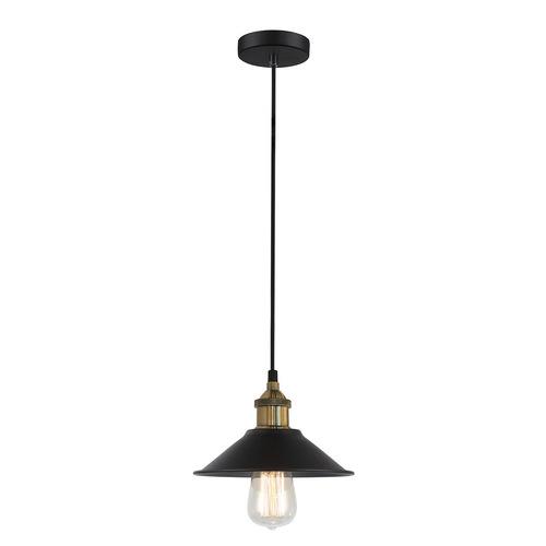 Černá závěsná lampa Kermio E27