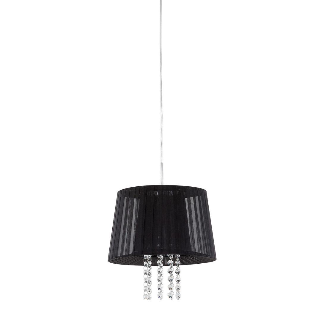 Černá závěsná lampa Luisa E14