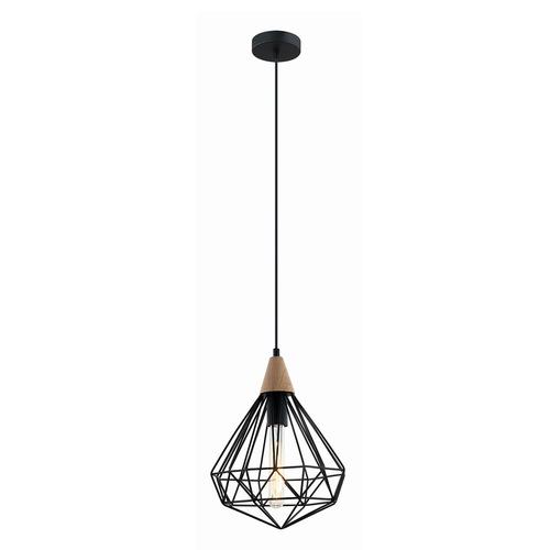 Černá závěsná lampa Maelle E27