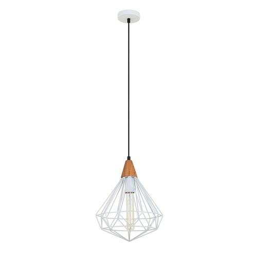 Bílá závěsná lampa Maelle White E27