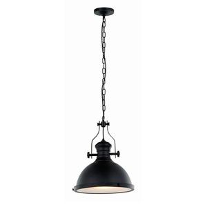 Černá závěsná lampa Maeva E27 small 2