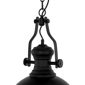 Černá závěsná lampa Maeva E27 small 3
