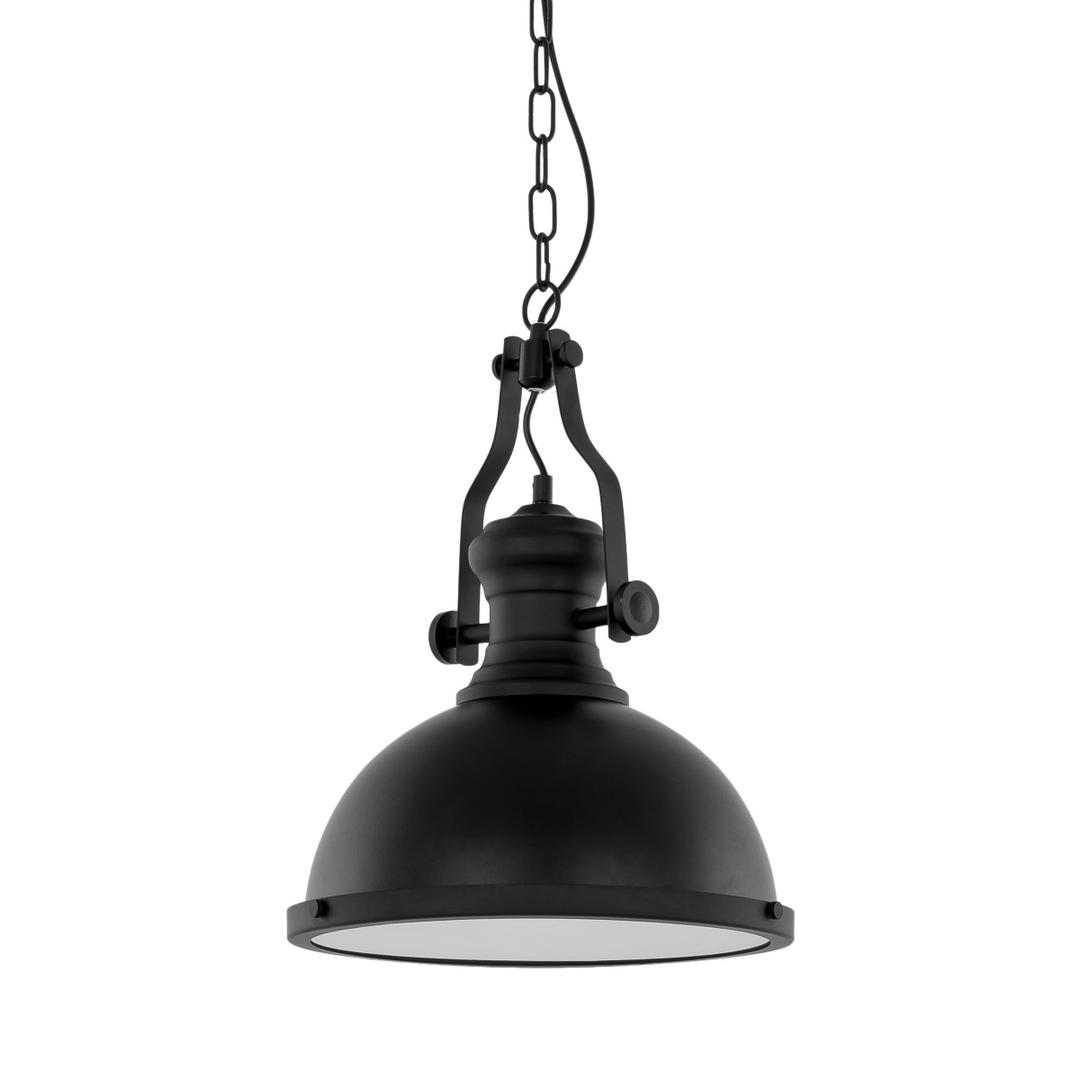 Černá závěsná lampa Maeva E27