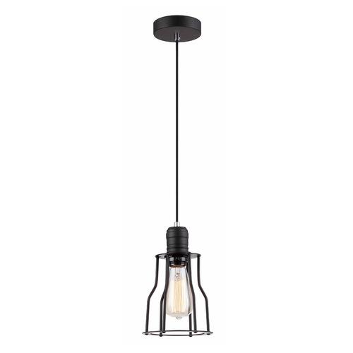 Černá závěsná lampa Moshi E27