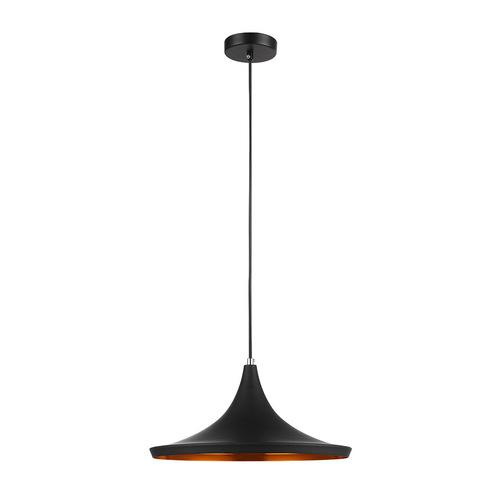 Černá závěsná lampa Pedro E27