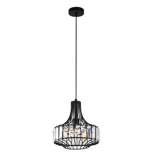 Černá závěsná lampa Sawin E27