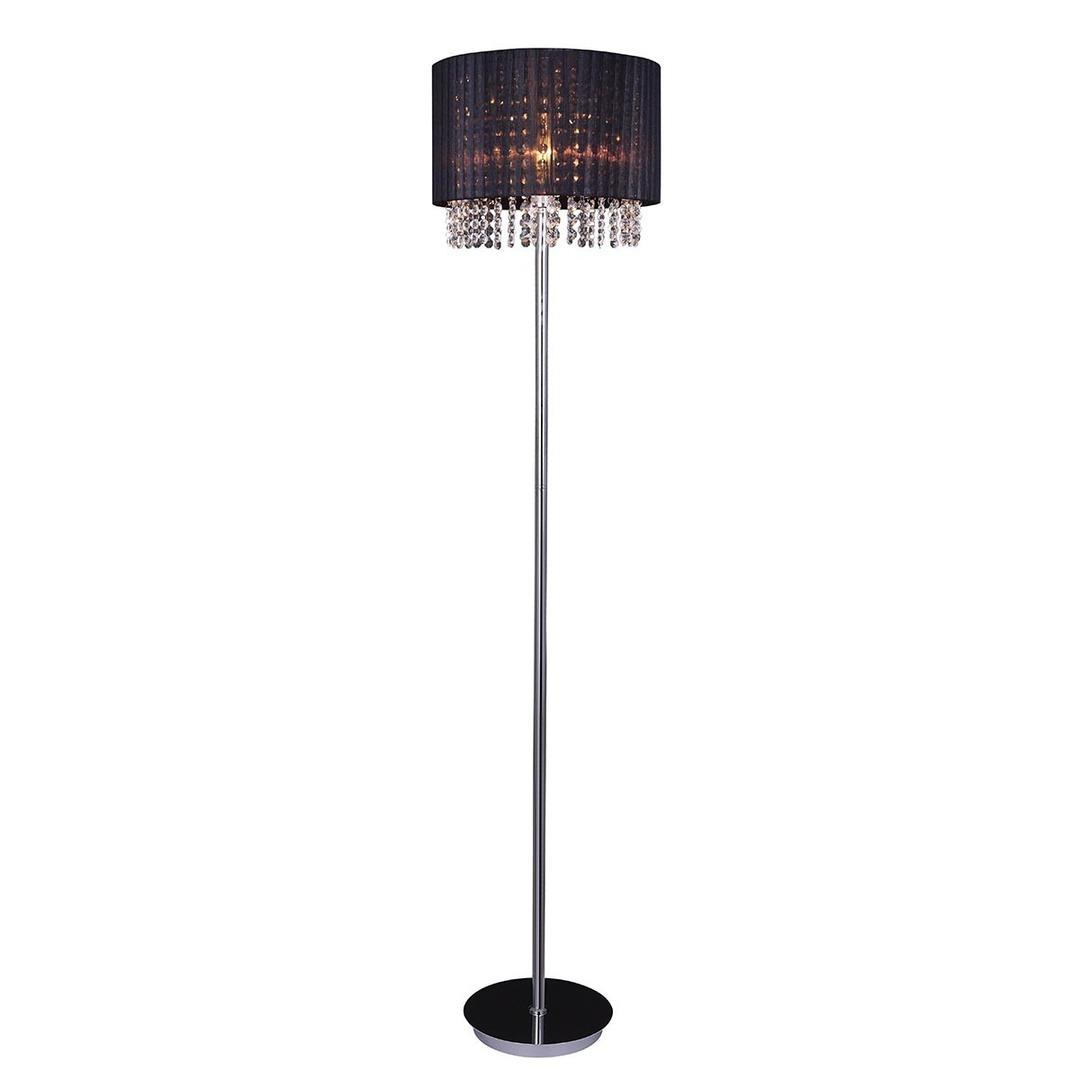 Černá stojací lampa Astra BK E27
