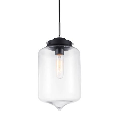 Černá závěsná lampa E27