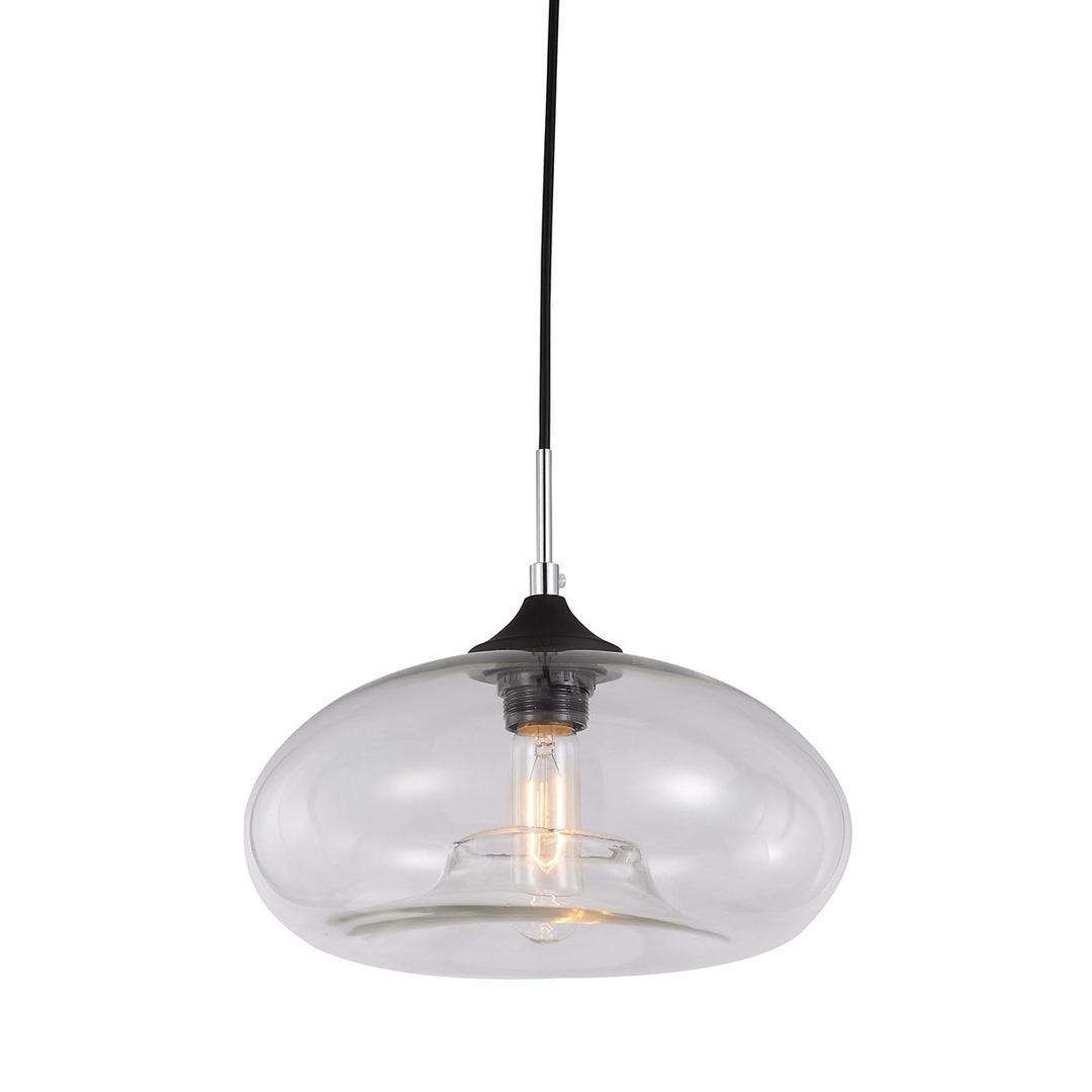 Černá závěsná lampa Valio E27