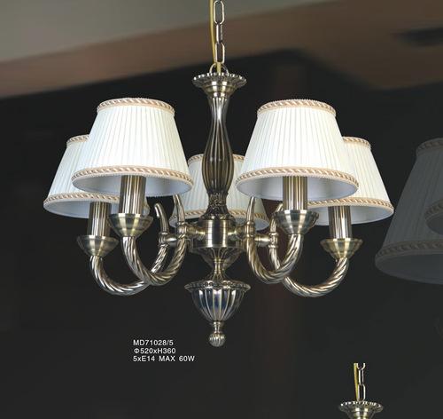 Stylizovaná závěsná lampa Frati E14 s 5 žárovkami