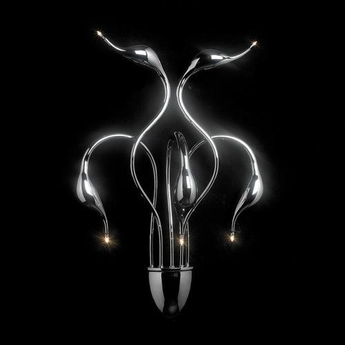 Moderní nástěnná lampa Swan G4 s 5 žárovkami