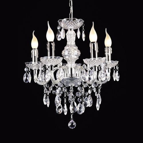 Klasický lustr s krystaly Whiz E14, 5 žárovek