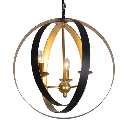 Černá závěsná lampa Kaia E14 3 žárovky