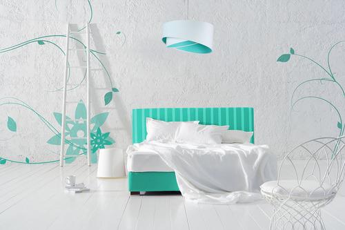 Elegance lampa pro teenagera 60W E27 bílá / barvy