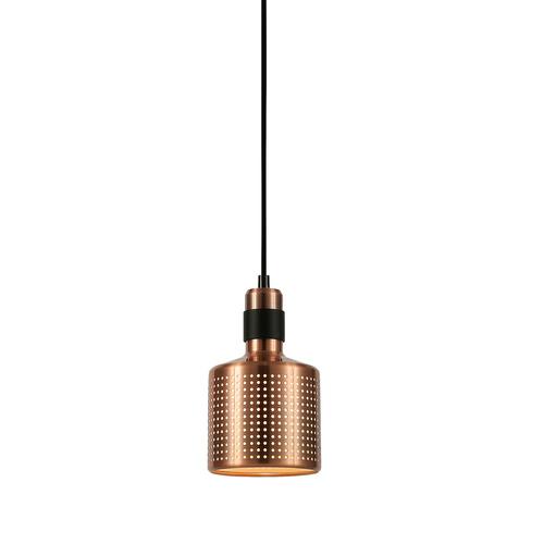 Měděná závěsná lampa Restenza E27