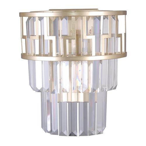 Moderní zlatá nástěnná lampa Filip E14, 2 žárovky