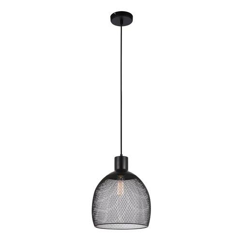 Černá závěsná lampa Julienne E27, 3 žárovky