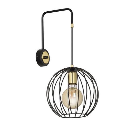 Nástěnná lampa ALBIO K1 ČERNÁ