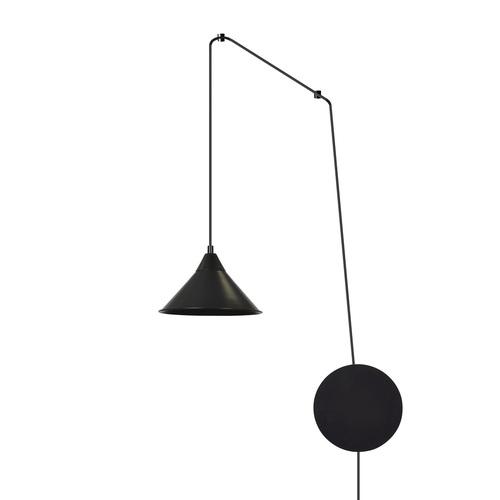 ZÁVĚSNÁ LAMPA ABRAMO 1 ČERNÁ