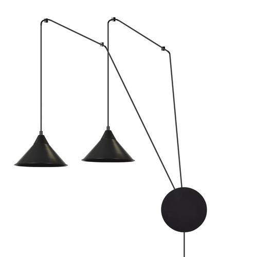 ZÁVĚSNÁ LAMPA ABRAMO 2 ČERNÁ