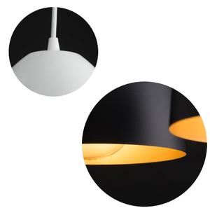 ZÁVĚSNÁ LAMPA LENOX 3 ČERNÁ / BÍLÁ small 5