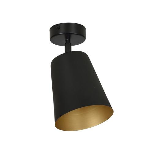 ZÁVĚSNÁ LAMPA PRISM 1 ČERNÁ / ZLATÁ
