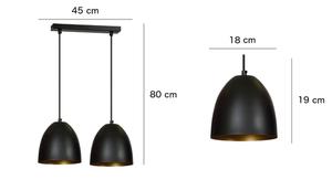 ZÁVĚSNÁ LAMPA LENOX 2 ČERNÁ / BÍLÁ small 1