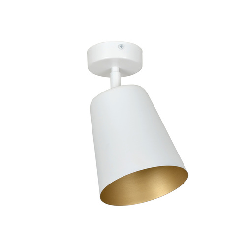 ZÁVĚSNÁ LAMPA PRISM 1 BÍLÁ / ZLATÁ