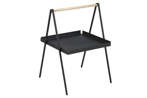 Konferenční stolek ACTONA SLOP černý - kov, dřevo