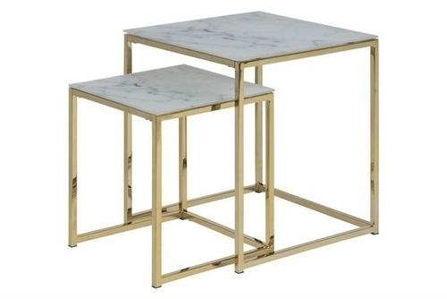 ACTONA stolní sada ALISMA mramor - sklo, kov