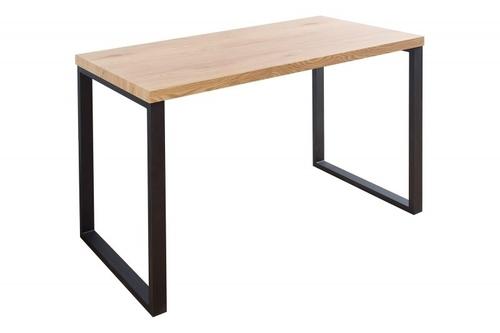 INVICTA stůl DUB 128, dub - dýha MDF, kovové nohy