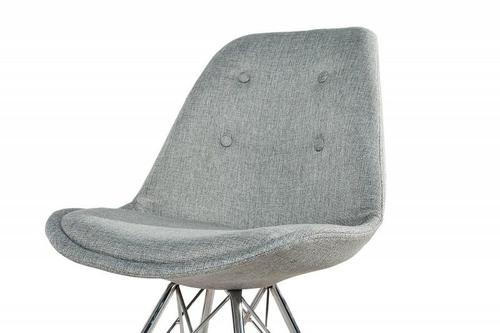 INVICTA Šedá čalouněná židle HUGO