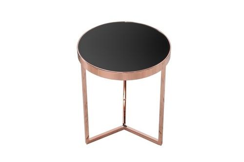 INVICTA stůl ART DECO 50 cm, měď - sklo, kov