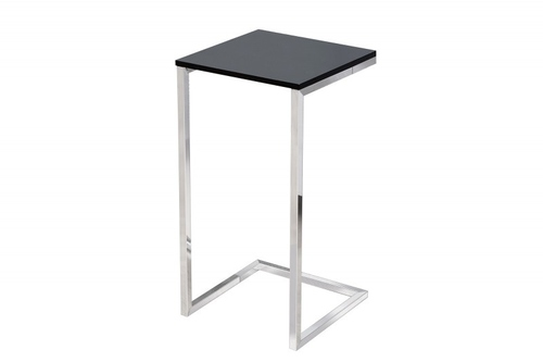 Stůl INVICTA SIMPLY černý - chromový podstavec