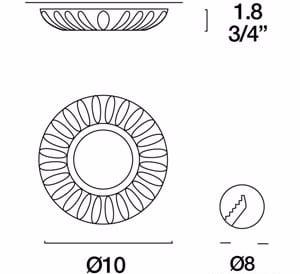 Eyelet Itre Fissi SD 889 halogenové svítidlo 12V 50W GU5,3 small 2