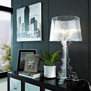 Glamour Stolní lampa Kartell BOURGIE Transparent small 1