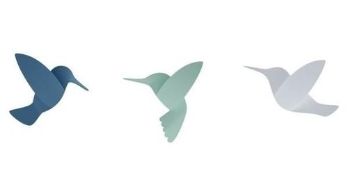 UMBRA nástěnná dekorace HUMMINGBIRD -mix